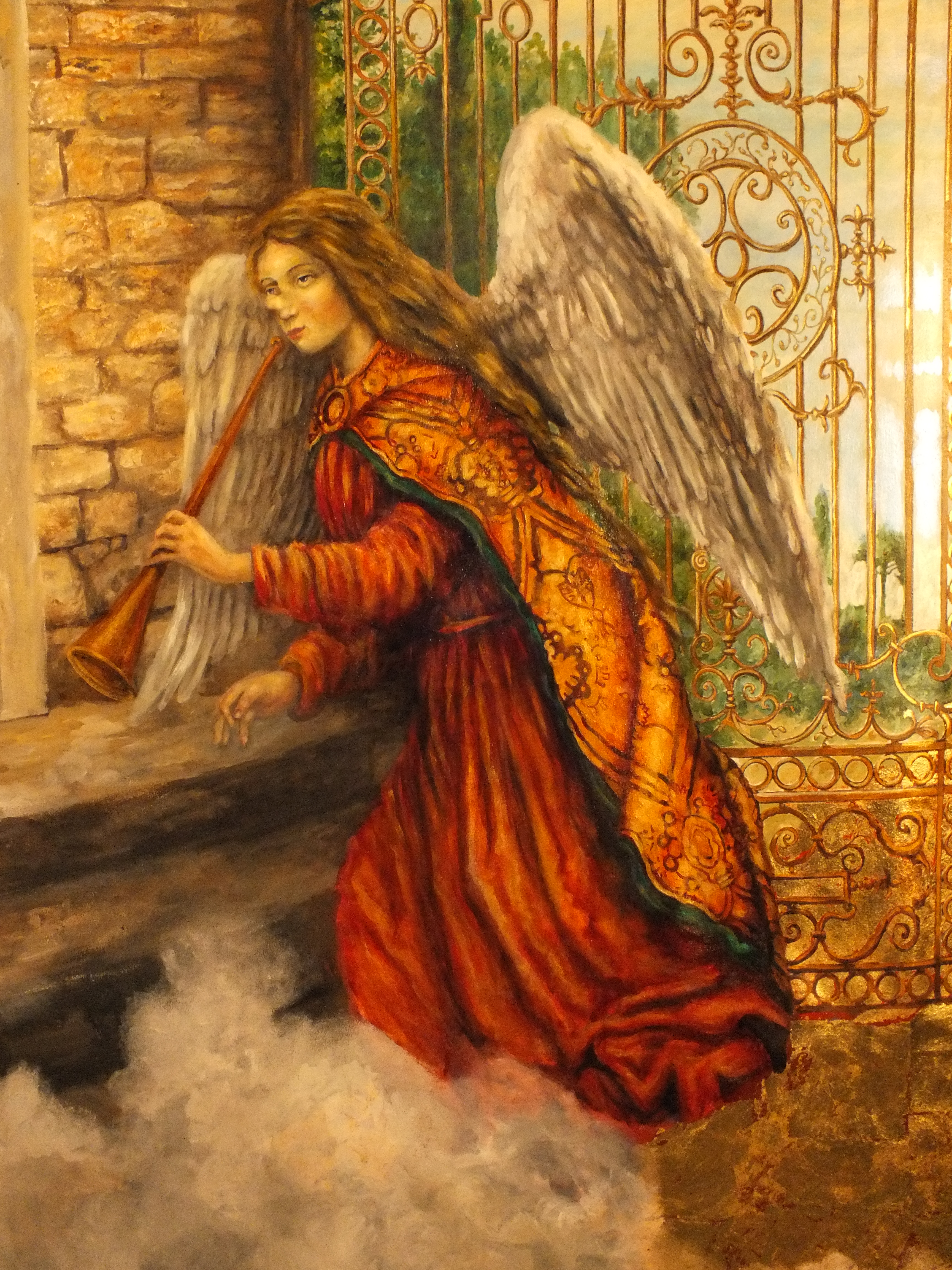 angel with fortuni fabric